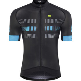 Alé Cycling Graphics PRR Strada Shortsleeve Jersey Herr black-cyan